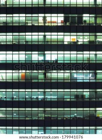 Modern building at night - stock photo