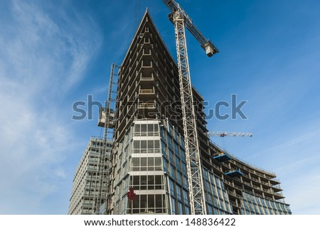 Modern Building Construction In Liverpool - stock photo