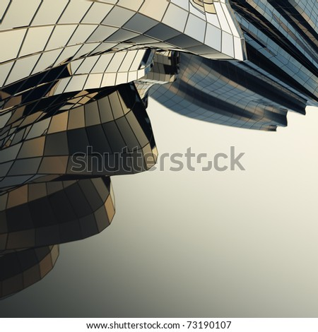 Modern building downtown - stock photo