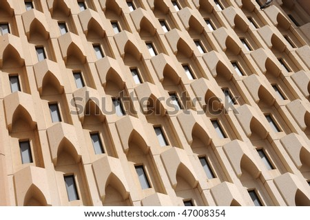 Modern Building Facade in Dubai, United Arab Emirates - stock photo