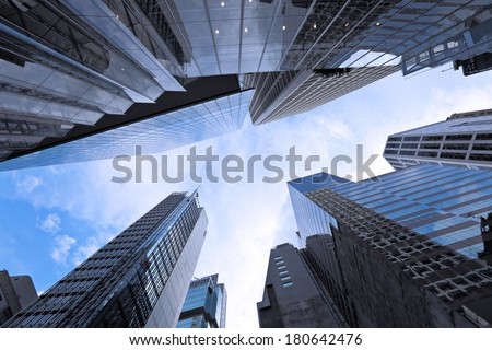 Modern building from low angle - stock photo