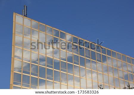 Modern building in Belgrade, Serbia - stock photo