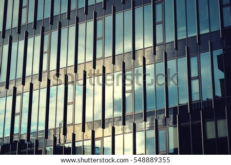 glass facade design office building. Modern Building. Office Building With Facade Of Glass. Glass Design T