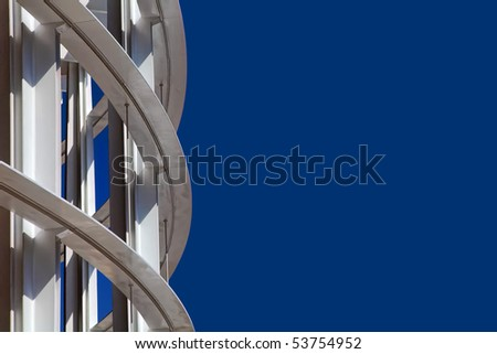 Modern building on a background of the blue sky - stock photo