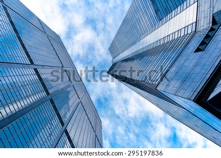 Modern Buildings in Commercial Area, Hongkong - stock photo