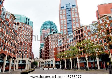 Modern buildings in Den Haag, Netherlands - stock photo