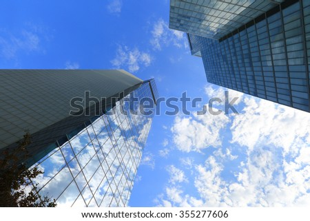 Modern buildings in down town Tel Aviv - stock photo