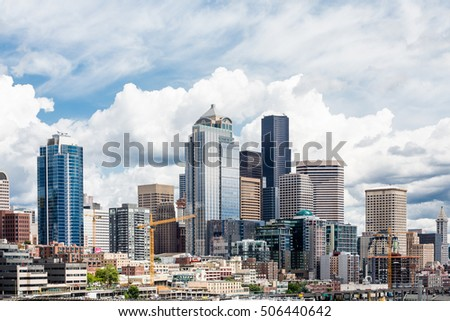 Modern Buildings in the skyline of Seattle