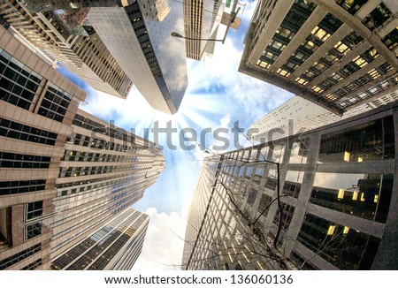 Modern Buildings of New York - USA - stock photo