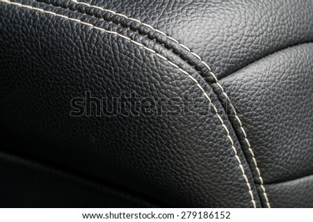 Modern business car interior detail. Leather background. - stock photo