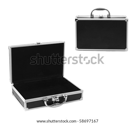 modern business case isolated on white - stock photo