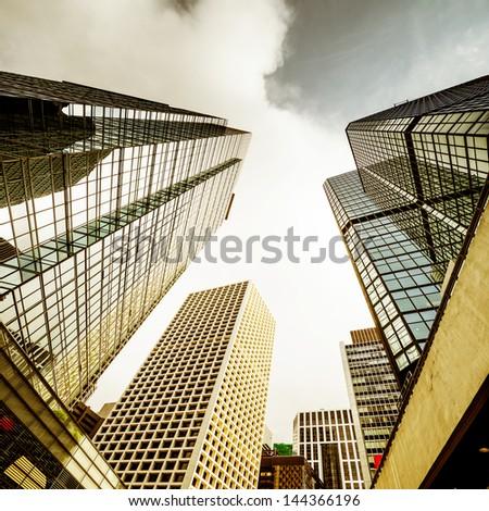 modern business center in hongkong - stock photo
