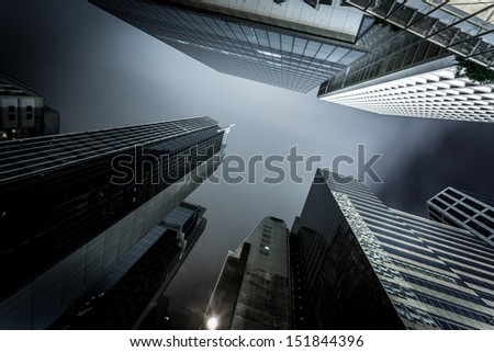 modern business center in hongkong - stock photo