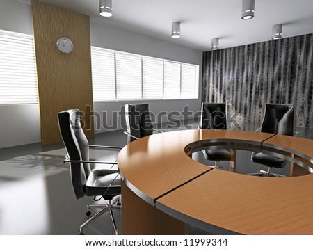 modern business interior(3D rendering) - stock photo