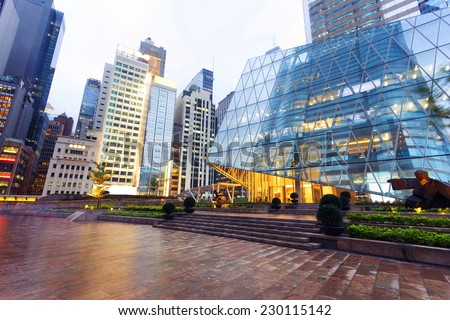modern business office building exterior - stock photo