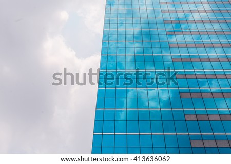Modern business skyscapers, architecture raising to the sky, futuristic downtown - stock photo