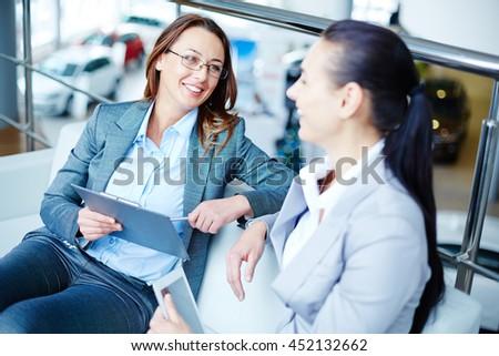 Modern businesswomen - stock photo