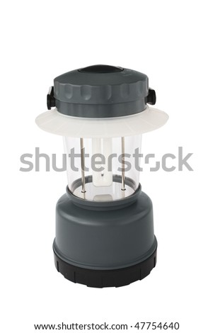modern camping light isolated on a white with clipping path