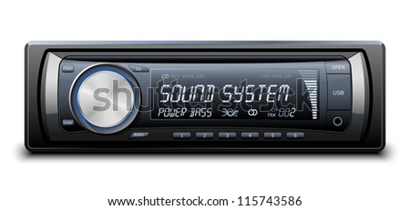 Modern Car Audio - stock photo