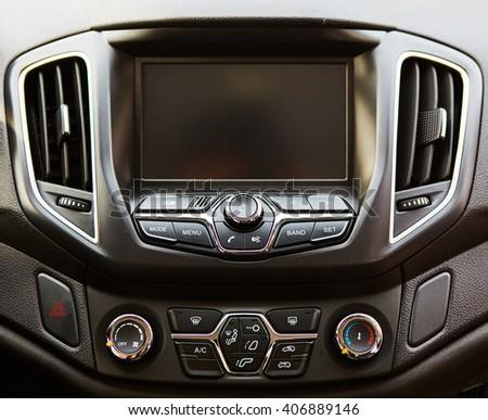 Modern car dashboard.  - stock photo