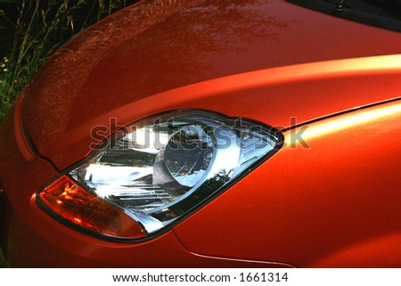modern car light detail