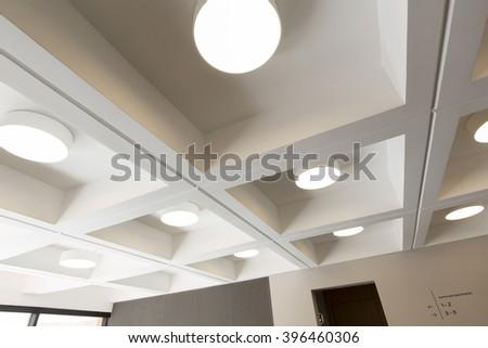 Modern ceiling - stock photo