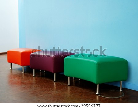 Modern chairs in a blue house