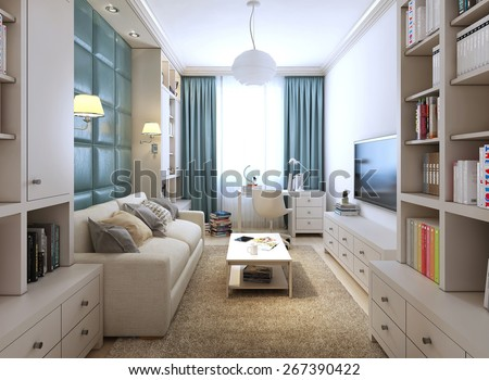 Modern children's room, 3d render