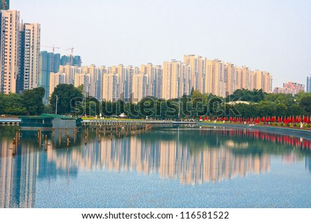 Modern Chinese residential,Guangzh ou China - stock photo