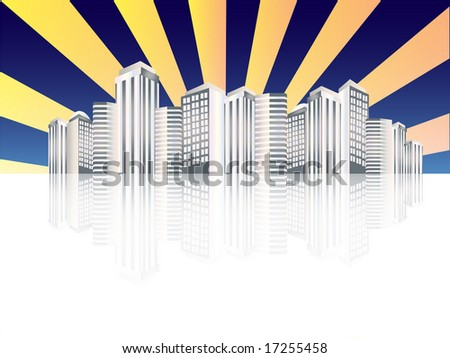 modern city abstract background - stock photo