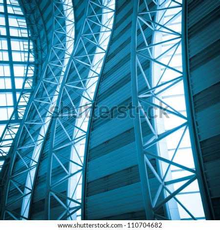 modern city architecture ceiling detail - stock photo