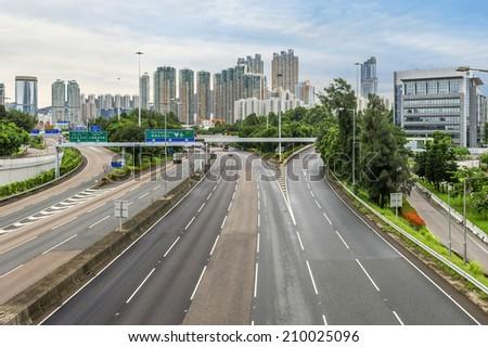 Modern city, Hong Kong, China. - stock photo