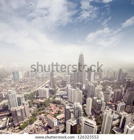 modern city in Kuala Lumpur - stock photo