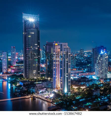 Modern city view of Bangkok, Thailand. Cityscape.