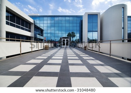 Modern commercial building facility - stock photo