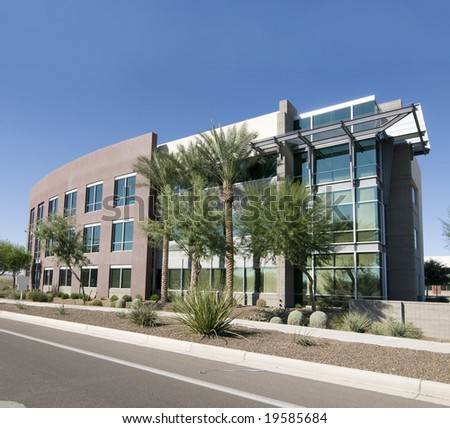 Modern Commercial Facility - stock photo