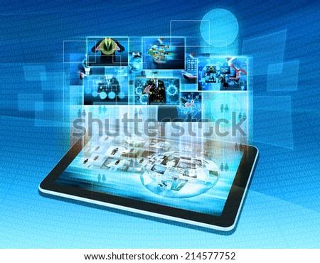 Modern communication technology - stock photo