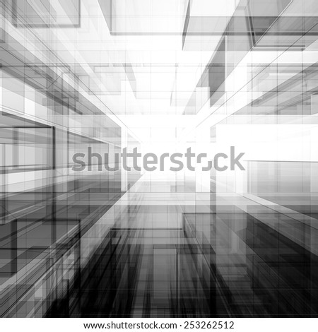 Modern concept. Architecture design and model my own - stock photo