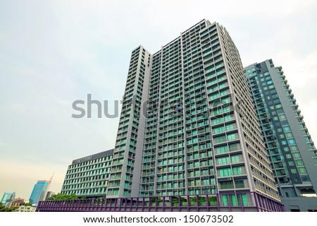 Modern condominium building  - stock photo