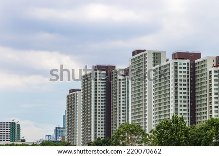 Modern condominium building - stock photo
