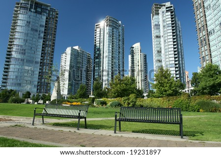 Modern Condominium City - stock photo