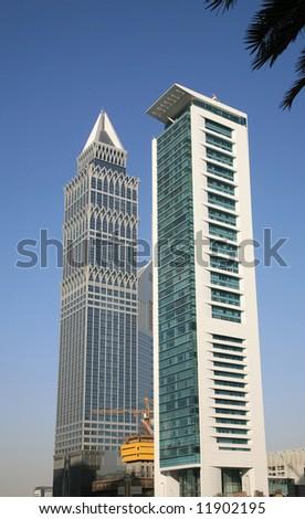 Modern Constructions Rising in Dubai - stock photo