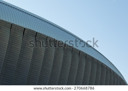 modern contemporary architecture bright steel detail abstract