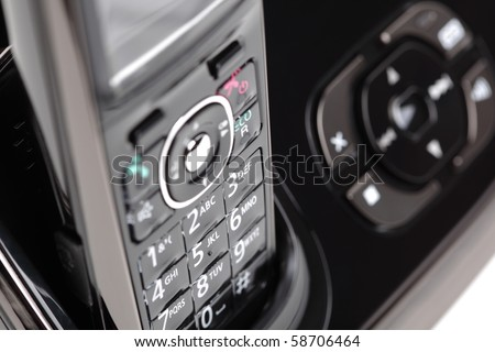Modern cordless phone and answering machine abstract - stock photo