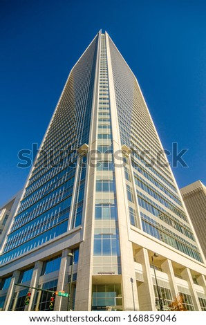modern corporate architecture on a sunny day - stock photo