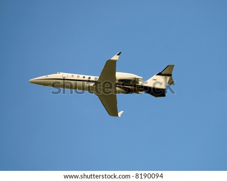 Modern corporate jet - stock photo