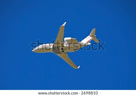 Modern corporate jet for business travel - stock photo