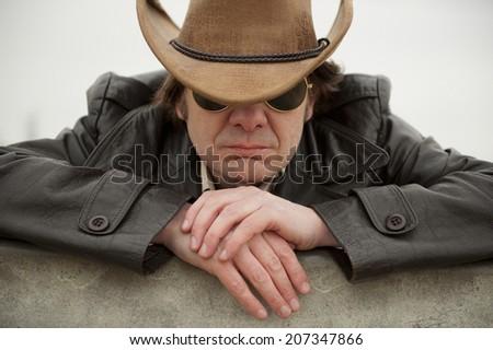 Modern Cowboy Modern Cowboy Stock Photo