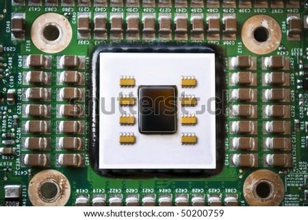 modern cpu core - stock photo