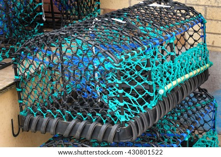 Modern crab or lobster pot.